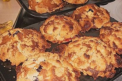 Weiße Schokoladen - Blaubeer Muffins 11
