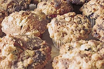 Weiße Schokoladen - Blaubeer Muffins 12