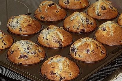 Weiße Schokoladen - Blaubeer Muffins 8