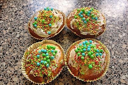 Weiße Schokoladen - Blaubeer Muffins 5