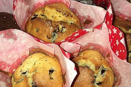 Weiße Schokoladen - Blaubeer Muffins 2