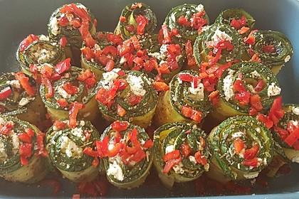 Eingelegte Zucchiniröllchen 34