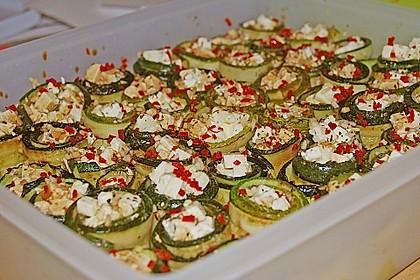 Eingelegte Zucchiniröllchen 20