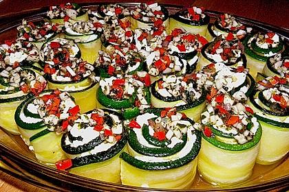 Eingelegte Zucchiniröllchen 6
