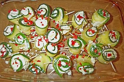 Eingelegte Zucchiniröllchen 96