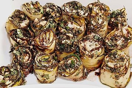 Eingelegte Zucchiniröllchen 75