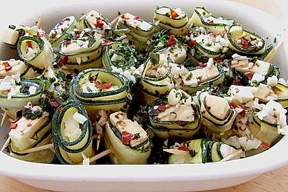 Eingelegte Zucchiniröllchen 36