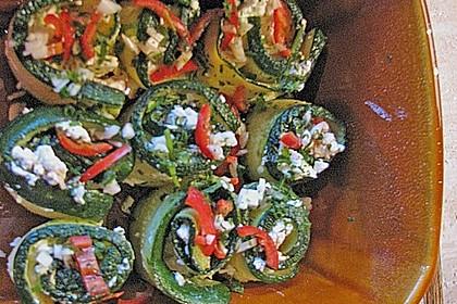 Eingelegte Zucchiniröllchen 104