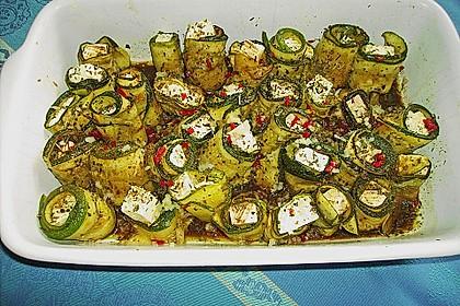 Eingelegte Zucchiniröllchen 54