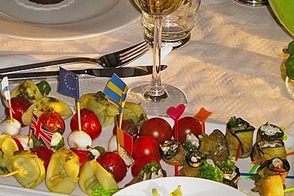 Eingelegte Zucchiniröllchen 48