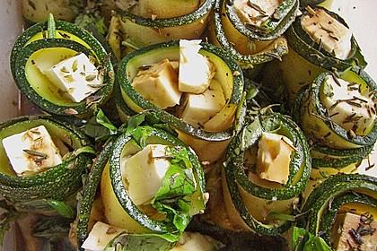 Eingelegte Zucchiniröllchen 55