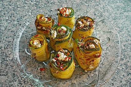 Eingelegte Zucchiniröllchen 4