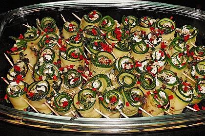 Eingelegte Zucchiniröllchen 15