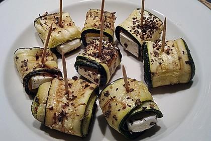 Eingelegte Zucchiniröllchen 10