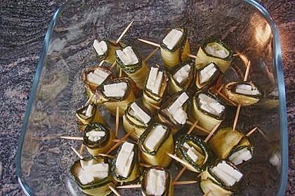 Eingelegte Zucchiniröllchen 94
