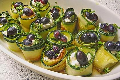 Eingelegte Zucchiniröllchen 56