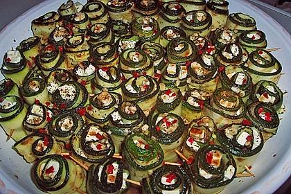Eingelegte Zucchiniröllchen 9