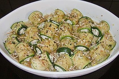 Eingelegte Zucchiniröllchen 60