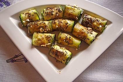 Eingelegte Zucchiniröllchen 14