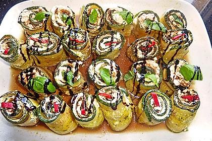 Eingelegte Zucchiniröllchen 16