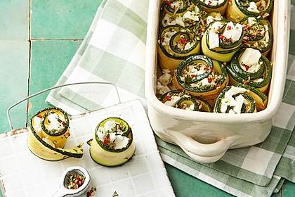 Eingelegte Zucchiniröllchen 1