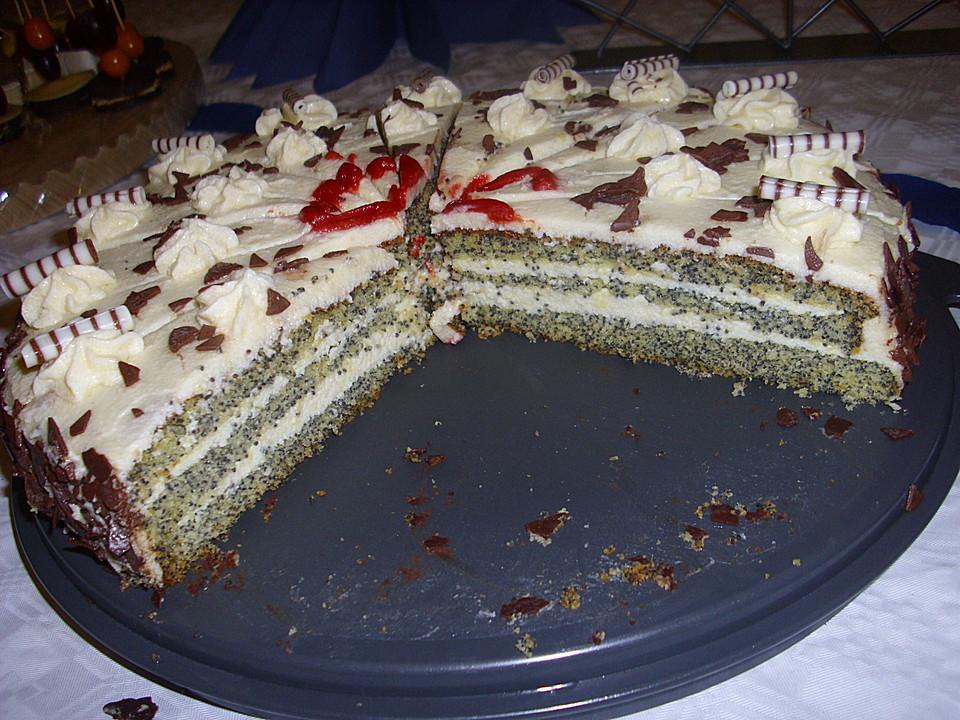 Mohn Buttercreme Torte Von Gima Chefkoch De