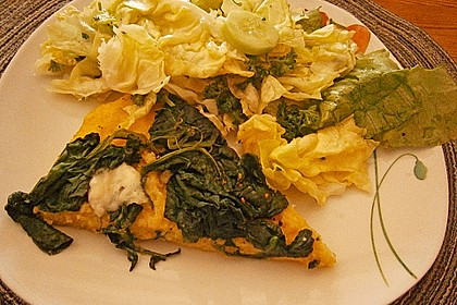 Spinat - Mozzarella Schnitten (Bild)