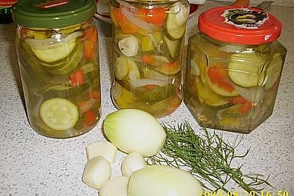 Zucchini, eingelegt 2