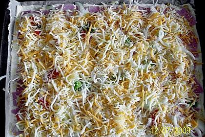 Blätterteig - Pizza mit Sauerrahm 8