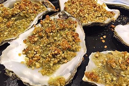 Überbackene Austern mit Macadamia Salsa