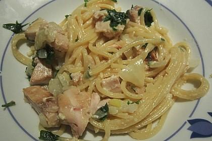 Lachsspaghetti à la Carbonara 5