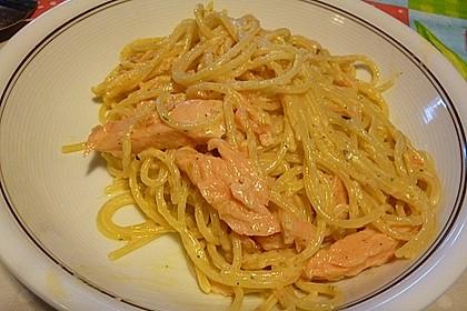 Lachsspaghetti à la Carbonara 4