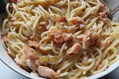 Lachsspaghetti à la Carbonara 2
