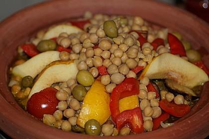 Gemüse - Kartoffel - Tajine mit Harissa (Bild)