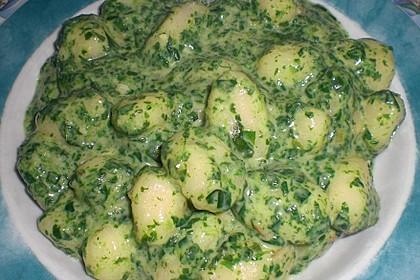 Gnocchi in Spinatkäsesoße 4
