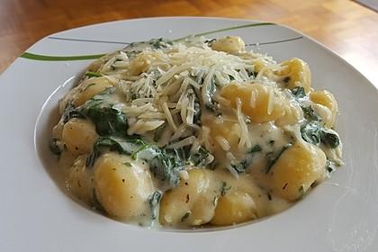 Gnocchi in Spinatkäsesoße 2
