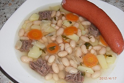 Westfälische weiße Bohnensuppe Omas Art 6