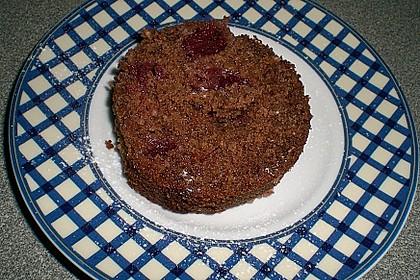 Schoko - Kirsch - Kuchen mit Mandeln 3