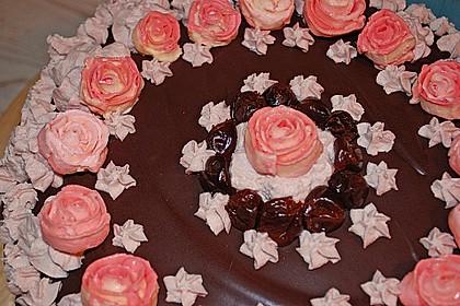 Schoko - Kirsch - Kuchen mit Mandeln