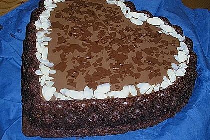 Schoko - Kirsch - Kuchen mit Mandeln 2