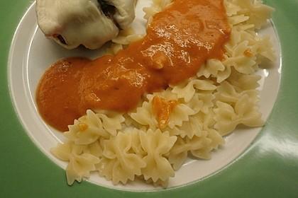 Einfache Tomaten - Sahne Sauce 3