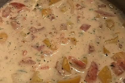 Einfache Tomaten - Sahne Sauce 4