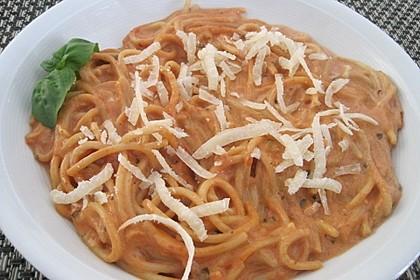 Einfache Tomaten - Sahne Sauce