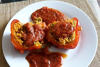 Gefüllte Paprika mit Bulgur 1
