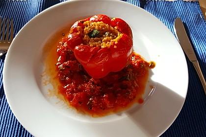 Gefüllte Paprika mit Bulgur 8