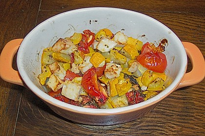 Bunnys Zucchini - Tomaten - Auflauf
