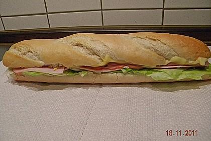 Dreadys Schinken - Käse - Baguette mit Krautsalat und Ei 2