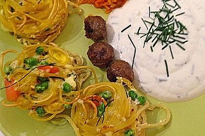 Spaghetti - Muffins mit Kräuterquark (Bild)