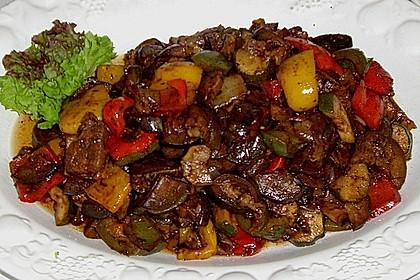Gegrilltes Zitrus - Gemüse