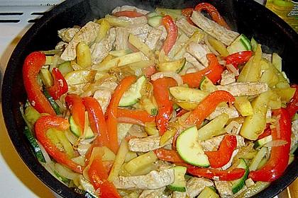 Schnitzelpfanne mit Gemüse 11
